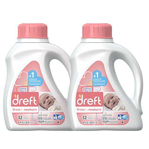 Dreft Stage 1: Newborn Hypoallergenic Liquid Baby Laundry Detergent (HE), 50 Ounces...