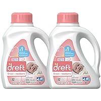 2-Pack Dreft Stage 1 Newborn Hypoallergenic Liquid Baby Laundry Detergent (HE) 50-Oz. (32 Loads)