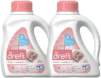 2-Pack Dreft Stage 1 Hypoallergenic Baby Laundry Detergent