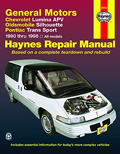 General Motors Chevrolet Lumina Apv Oldsmobile Silhouette Pontiac Trans Sport 1990 Thru 1996: All Models
