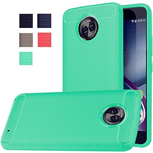 Moto X4 Case, Dretal [Shock Resistant] Flexible Soft TPU Brushed Anti-fingerprint Full-body Protective Case Cover For Motorola Moto X4 (2017) (Mint)