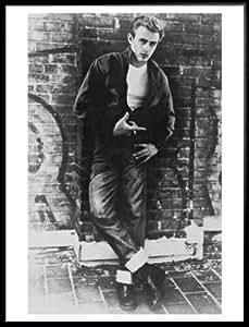 Hero Póster de y el marco (plástico) - James Dean (32 x 60,96 cm)