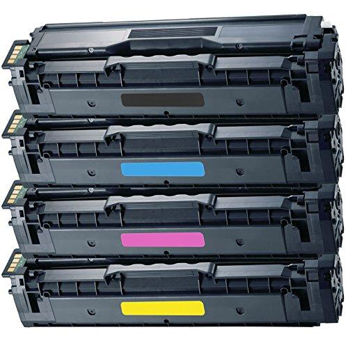 4 Inktoneram® Replacement toner cartridges for Samsung CLP-415 Toner Cartridges CLT-K504S CLT-C504S CLT-M504S CLT-Y504S replacement for Samsung CLP415 Combo Set CLP-415N CLP-415NW CLX-4195FW CLX-4195FN CLX-4195N