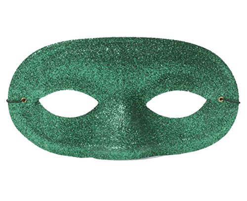 Green Glitter Domino Mask (Green Domino Mask)