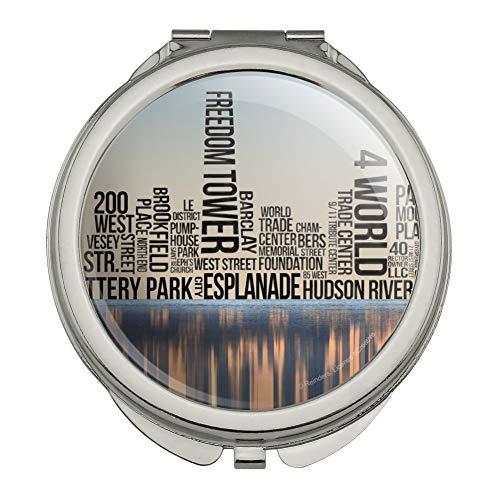 New York City NY Word Skyline Compact Travel Purse Handbag Makeup Mirror