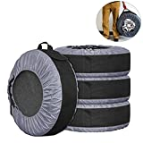 FLR Tire Tote Adjustable Waterproof Grey 30in Tire Covers Bags Seasonal Tire Storage Bag for Car Off Road Truck Tire Totes Set of 4