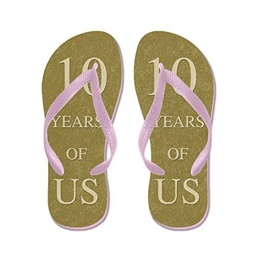 89426d6a296b durable service CafePress - 10Th Wedding Anniversary - Flip Flops ...