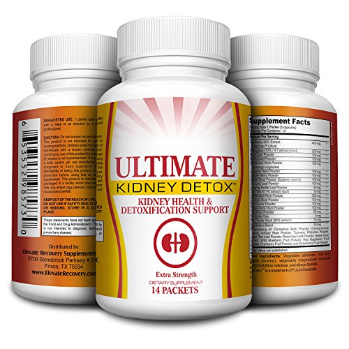 14-Day Kidney Detox Cleanse Support Supplement – Pills – Natural Kidney Supplements – 14 Packets