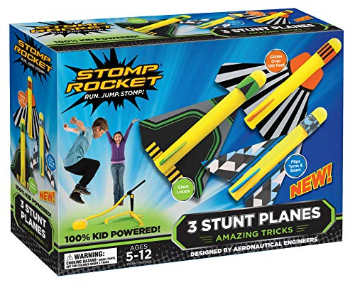 Image of the Stomp Rocket Stunt Planes, 3 Planes