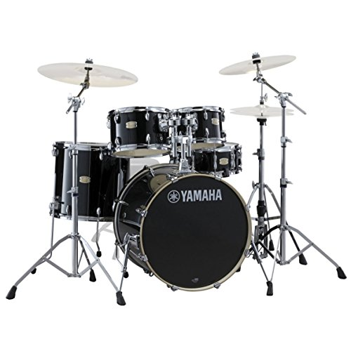 yamaha-sbp2f56w-5-pc-raven-black-stage-custom-birch-drum-set-with-hw-680w-hardware-pack
