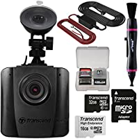 Transcend DrivePro 50 1080p HD Wi-Fi Car Dashboard Video Recorder with Suction Cup with 16GB & 32GB Cards + Hardwire Power Cable Kit