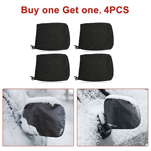 4PCS Mirror Covers, Universal Snowproof Waterproof Car Snow Covers, for Ice and Snow, Winter, Outdoor, Outside, Fit Car, SUV, CRV, Pickup, Truck, Vehicle, Automotives