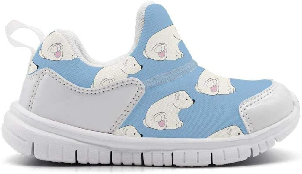 ONEYUAN Children White Polar Bear Party Favors Kid Casual Lightweight Sport Shoes Sneakers Running Shoes