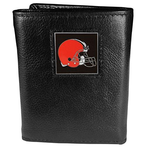 NFL Cleveland Browns Genuine Leather Tri-fold Wallet
