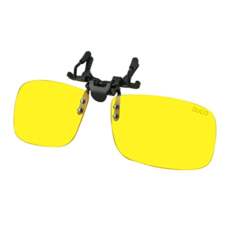 b7e99bec4f7 Amazon.com  Duco Clip on Rimless Ergonomic Advanced Computer Glasses with  Yellow Lens for Myopia 8010  Home Audio   Theater