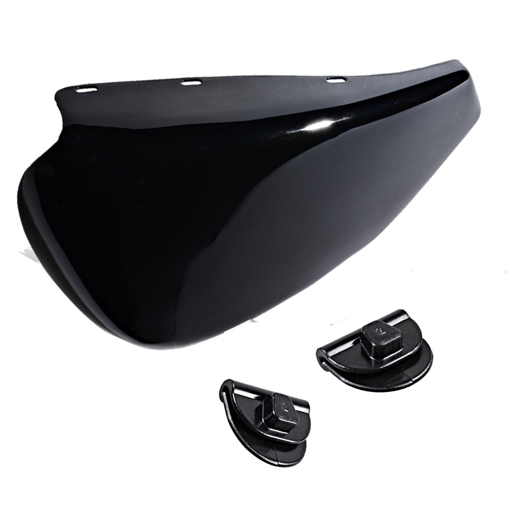 Glossy Black Left Side Battery Cover Compatible with 2004-2013 Harley Sportster XL 1200 883 by Astra Depot