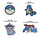 Anime Pokemon Water Type Assorted 4-Pack Iron or Sew-on Patch