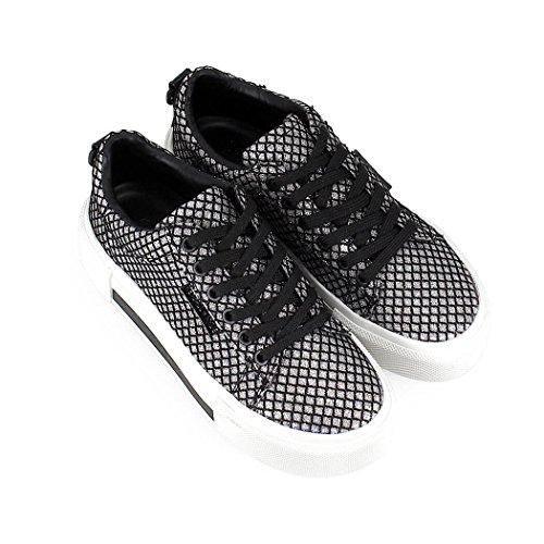 Kendall & Kylie - Zapatillas Para Mujer Plateado y Negro