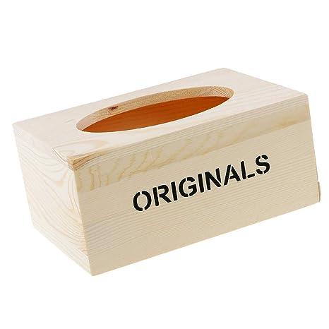 Sharplace Madera Caja Almacenamiento de Pañuelos Servilletero Higiénico Estilo Vintage Artesanía Europea Casera - A
