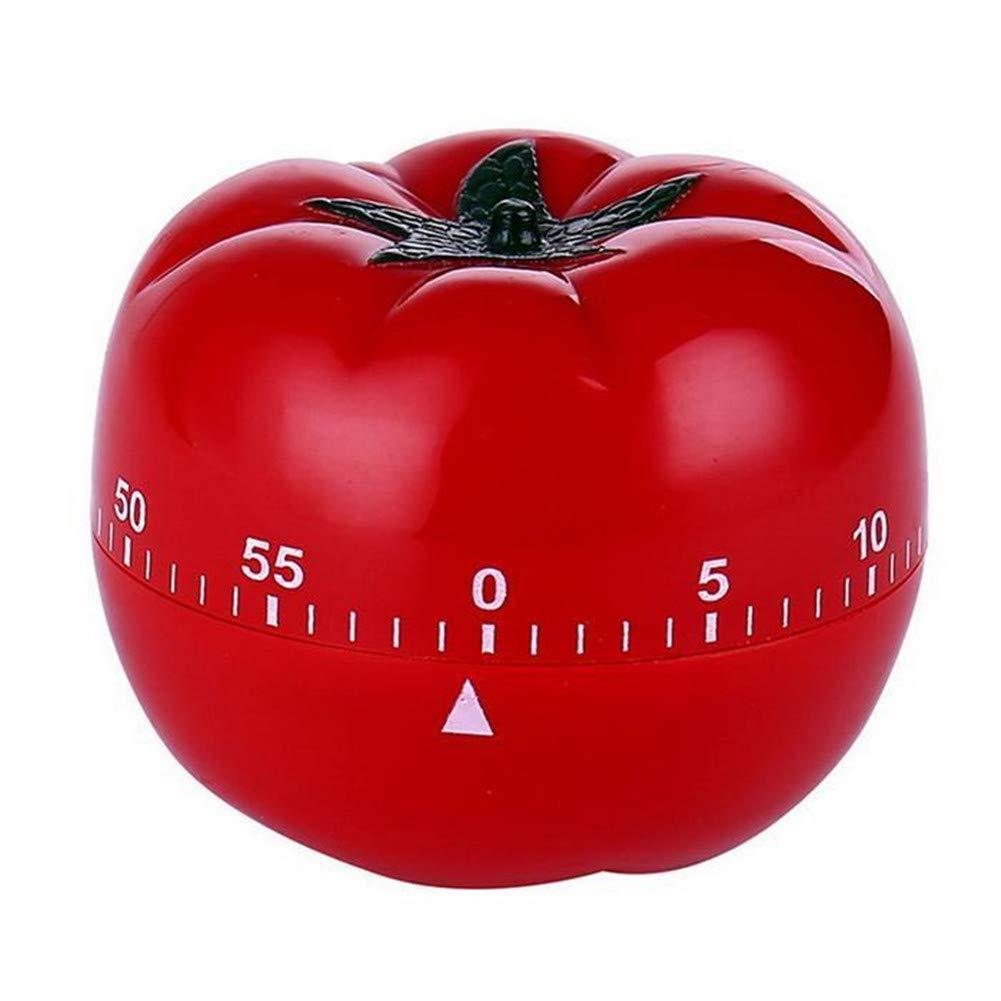 SDGDFXCHN Tomato - Temporizador de cocina mecánico con temporizador de cocina 72 * 55 mm rosso