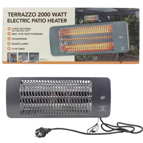 2000 Watt Heizstrahler Terrassenheizer Infrarot Strahler Heizgerät Heizpilz Riyashop