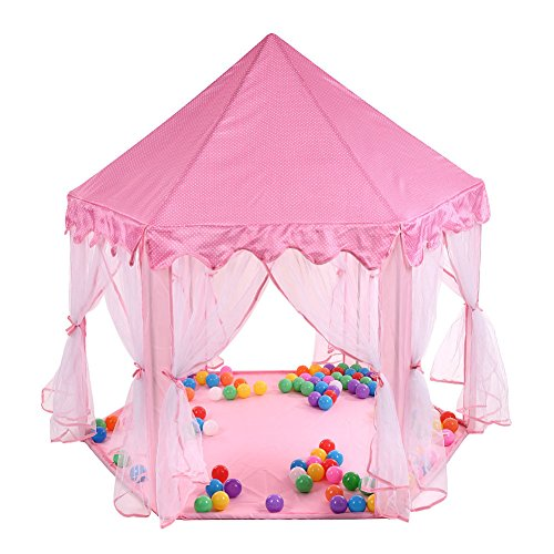 Children's Costume Polish National (Marketworldcup-Kids Pink Tent Princess House Castle Girls Playhouse Kids In/Outdoor Fairy Play)
