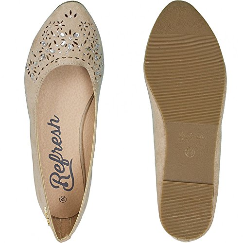 Refresh Women Ballerinas Flat Pumps Beige 472Ilv4Xhq