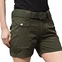 Topway Womens Camo Multi-pocket Short Pants Ladies Casual Trousers Cargo Shorts