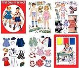 First Days at School, Paper doll by Hilda Miloche, 1942 #551