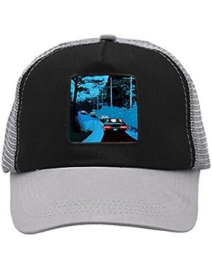 Unisex Red Road Car Adjustable Classic Hiphop Hat Baseball Cap Snapback Dad Hat