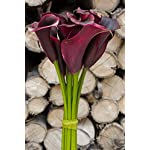 Meide-Group-USA-25-Large-Handmade-Real-Touch-Latex-Calla-Lilly-Artificial-Spring-Flowers-for-Arrangements-Bouquets-Weddings-and-centerpieces-Pack-of-5-Wine