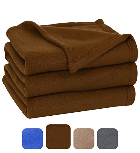 Learn More About Polar Fleece Blanket (Queen, Chocolate) - Extra Soft Brush Fabric, Super Warm Bed B...