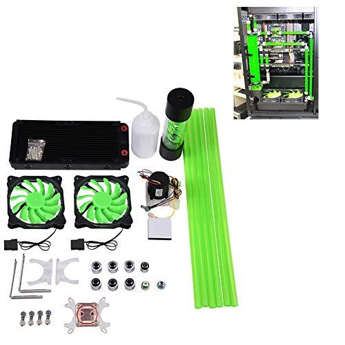 کیت خنک کننده آب Bewinner برای کامپیوتر 240 میلی متر گرمایشی CPU آب بلوک LED فن فن کیت خنک کننده آب سیستم های خنک کننده آب چیلر
