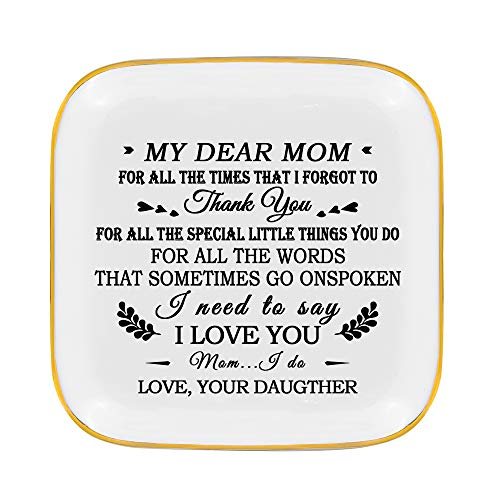 Mother Gifts from Daughter -Daughter to Mother Gifts - MY Dear Mom...Thank you! For All The Special Little Things You Do,For All The Words That Sometimes Go On Spoken, I Need to Say I Love You (Gifts Daughter Special Mother)
