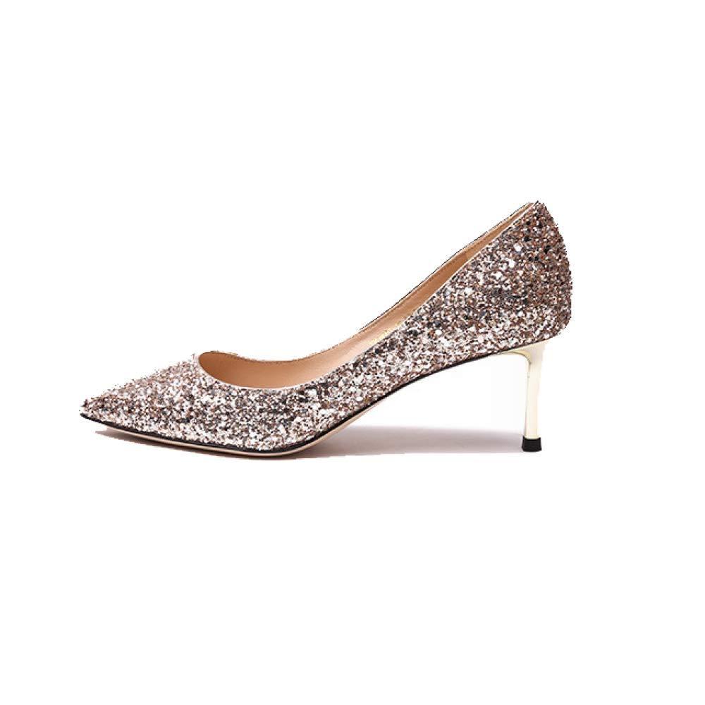 ZPEDY Chaussures pour Femmes, 19987 Pointues, Talons Hauts, Confortables, élégantes, Simples, Chaussures Simples, Sauvages Champagne d4dc7c3 - fast-weightloss-diet.space