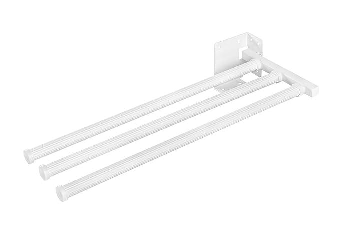 Handtuchstange Bad /u0026 Küche Handtuchhalter Ausziehbar Weiß   Modell SECCO  3143 90 | Handtuch Auszug 3 Armig | Länge: 430 Mm | Möbelbeschläge Von  GedoTec® ...