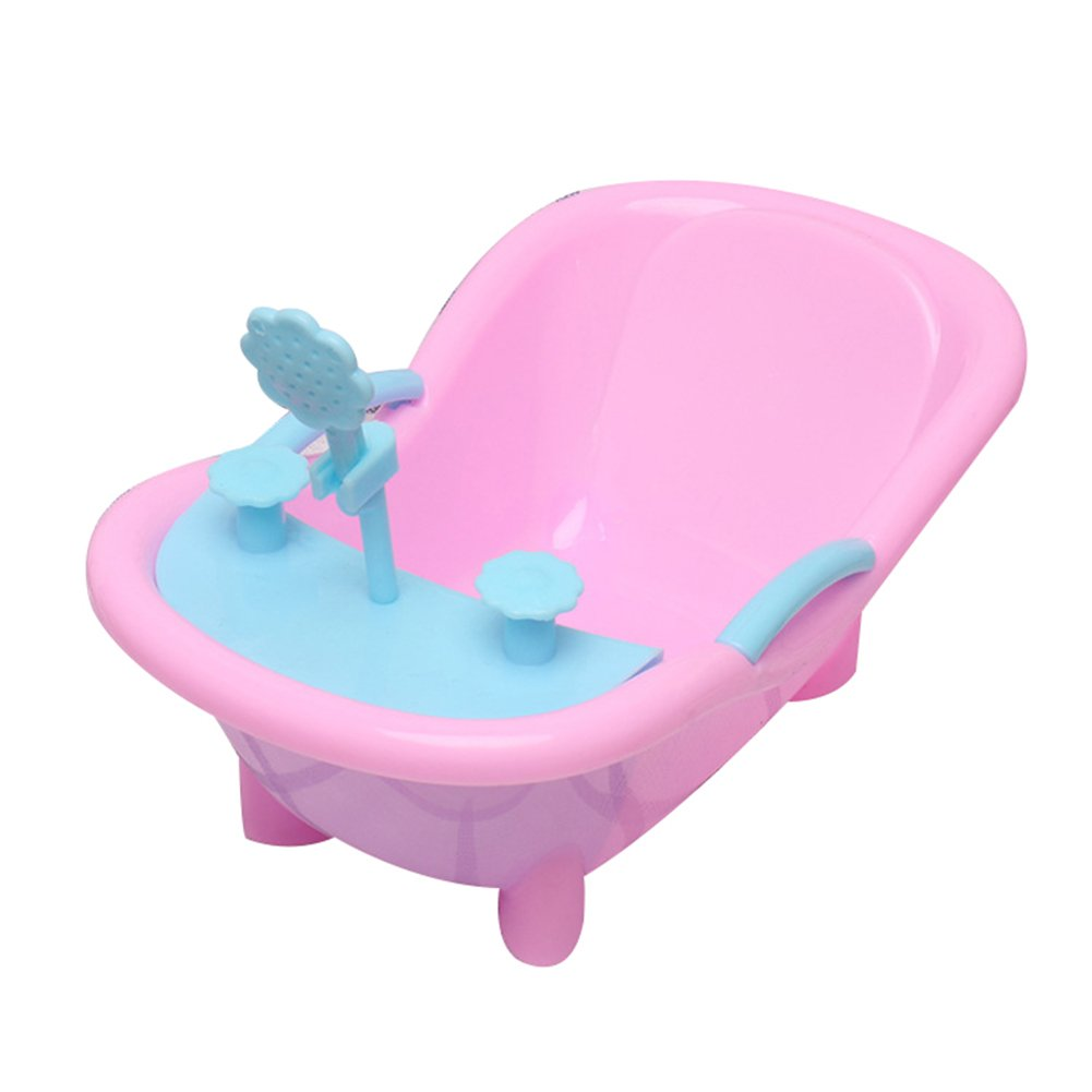 Slendima 3D Artificial Cute Shower Bathtub Toy Doll House Accessories Decor Gift for Kids