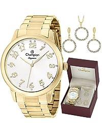 Kit Relógio Champion Feminino com Colar e Brincos CN26000W