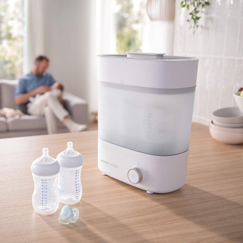 Philips Avent Premium Bottle Steriliser & Dryer, Kills 99.9% of Germs*,  Stays Sterile for 24 Hours*, SCF293/01: Amazon.co.uk: Baby