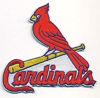 """St. Louis Cardinals Logo Baseball MLB Embroidered Iron On Patches Hat Jersey 3 1/2 x 3"""""""