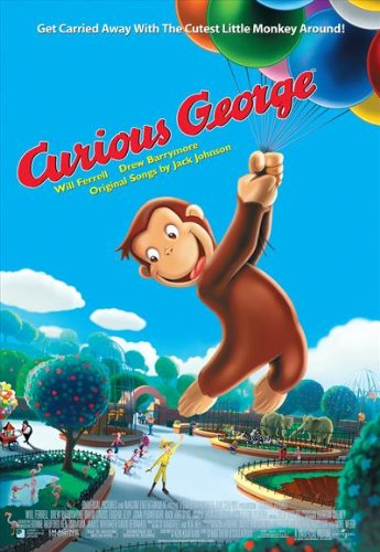 (Curious George Poster E 27x40 Drew Barrymore Will Ferrell David Cross)