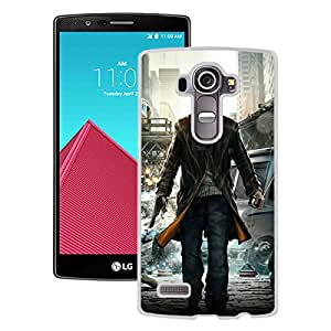 New Pupular And Unique Designed Case For LG G4 With Watch Dogs Video Game White Phone Case