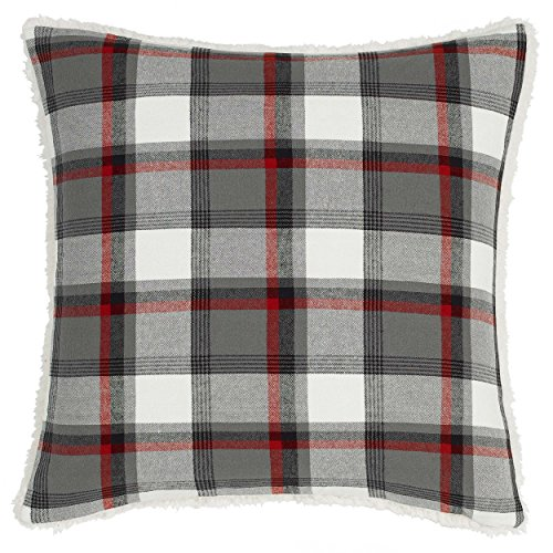 Eddie Bauer Wallace Plaid Throw Pillow, 20x20, Medium Grey