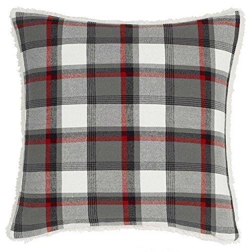 Eddie Bauer Wallace Plaid Throw Pillow, 20x20, Medium Grey