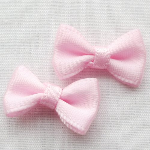 Chenkou Craft Small Satin Ribbon Bows Flower Appliques Craft Kid's Cloth Ornament 60pcs