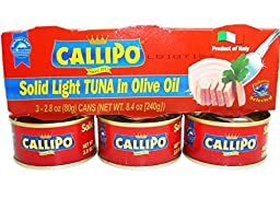 Italian Canned Tuna in Olive Oil Callipo 2.8 Oz (Pack of 9)
