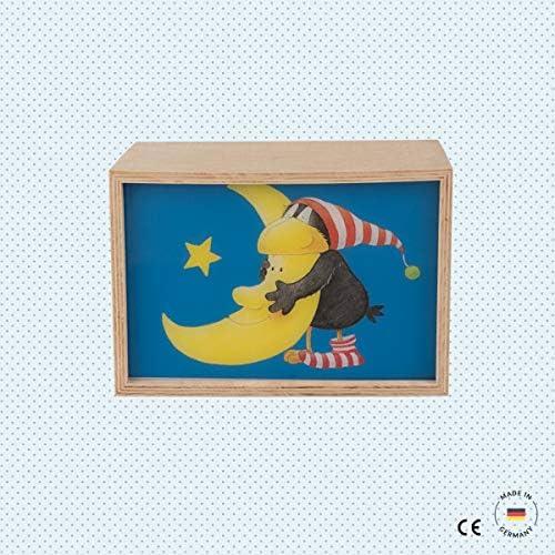Caja de luz LED de haya – Pequeño cuervo Socke con luna: Amazon.es ...