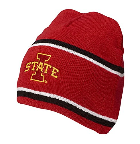 Ouray Sportswear NCAA Iowa State Cyclones Engager Beanie, One Size, Scarlet/Black/White