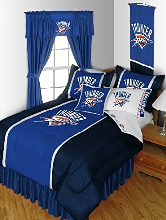 Ordinaire OKLAHOMA CITY THUNDER 7 PIECE FULL BEDDING SET BED IN A BAG (COMFORTER, FLAT