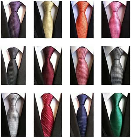 Weishang Lot 12 PCS Classic Men's 100% Silk Tie Necktie Woven JACQUARD Neck Ties